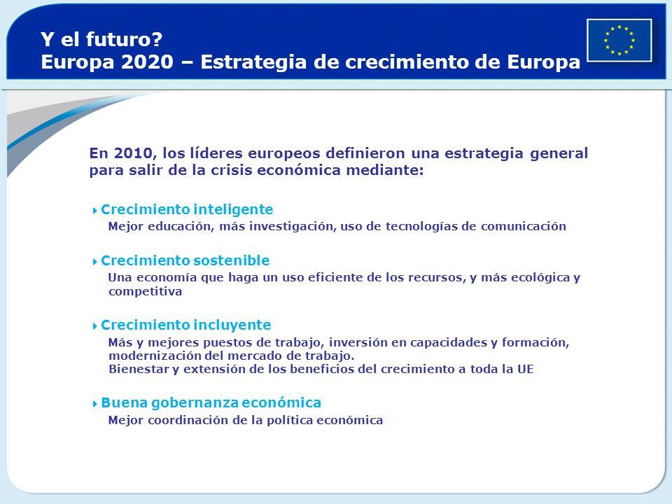 Y el futuro Europa 2020 – Estrategia de crecimiento de Europa