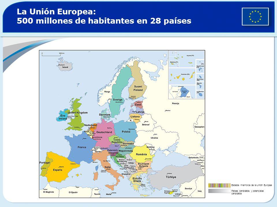 La Unión Europea: 500 millones de habitantes en 28 países
