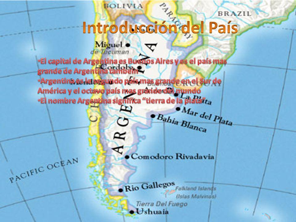 Introducción del PaísEl capital de Argentina es Buenos Aires y es el país mas grande de Argentina tambein.