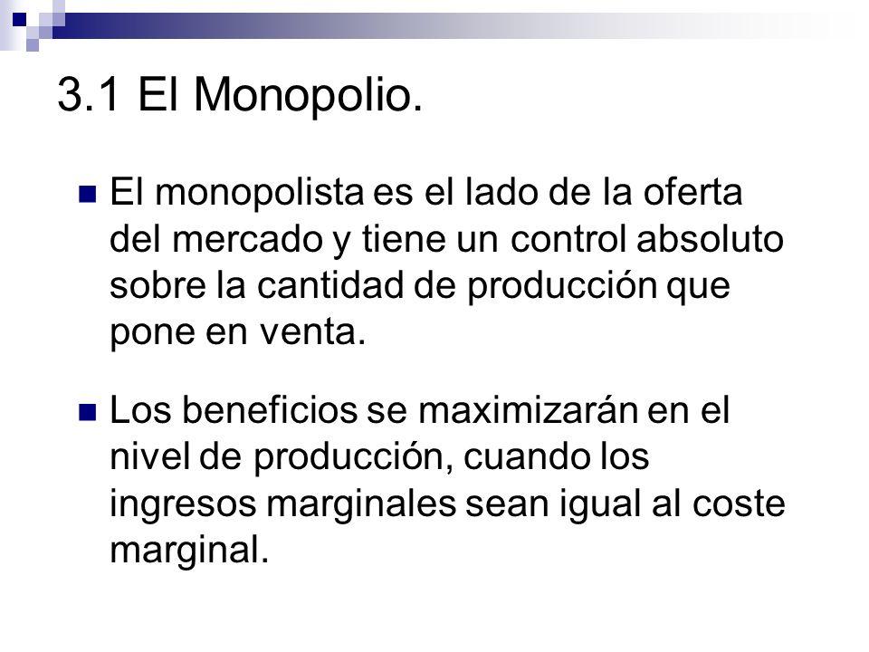 3.1 El Monopolio.