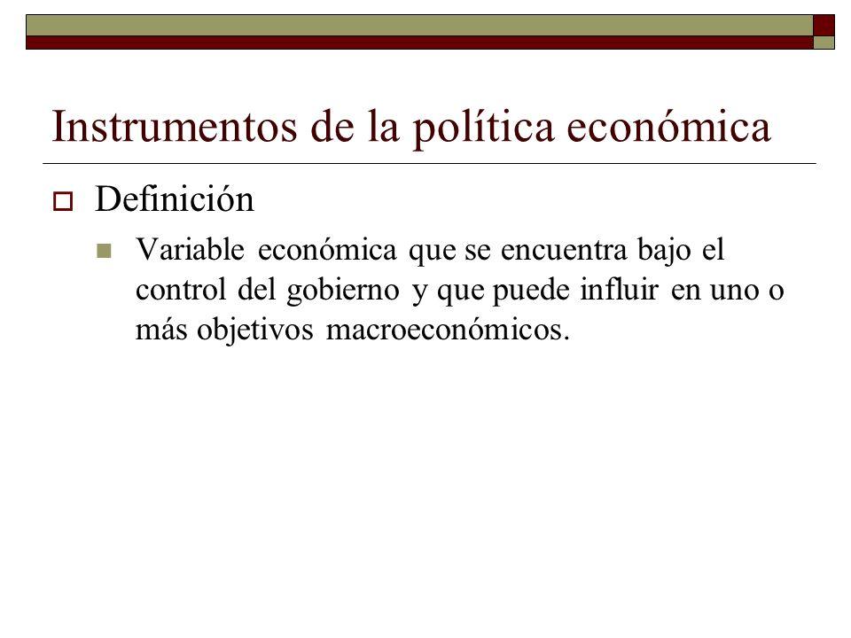 Instrumentos de la política económica