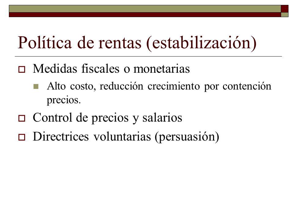 Política de rentas (estabilización)