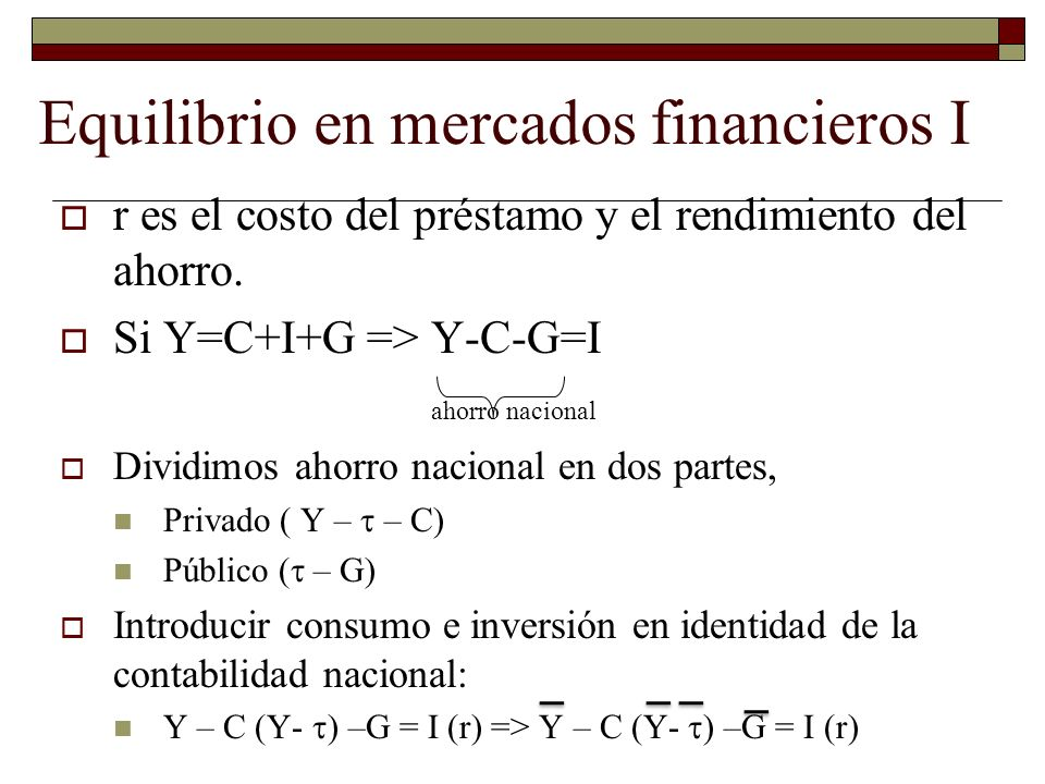 Equilibrio en mercados financieros I