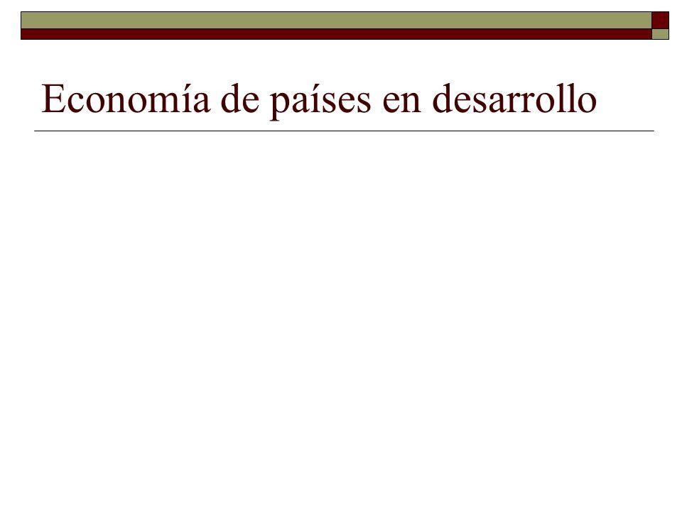 Economía de países en desarrollo