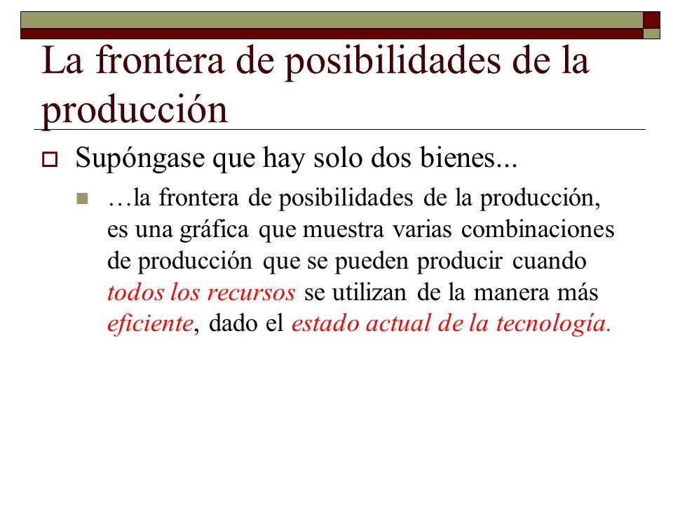 La frontera de posibilidades de la producción