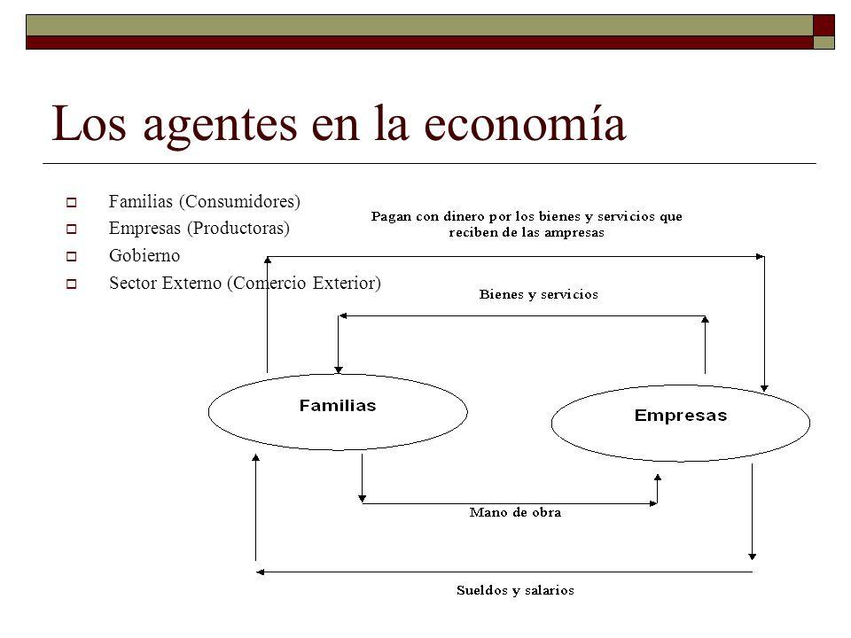 Los agentes en la economía
