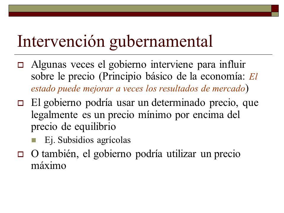 Intervención gubernamental