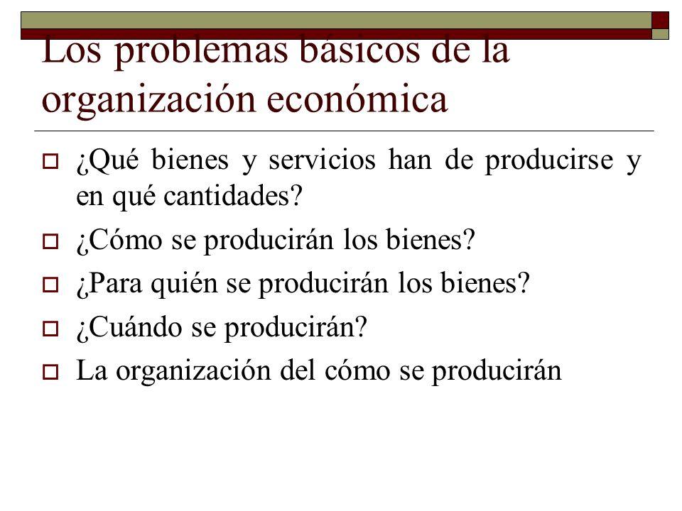 Los problemas básicos de la organización económica