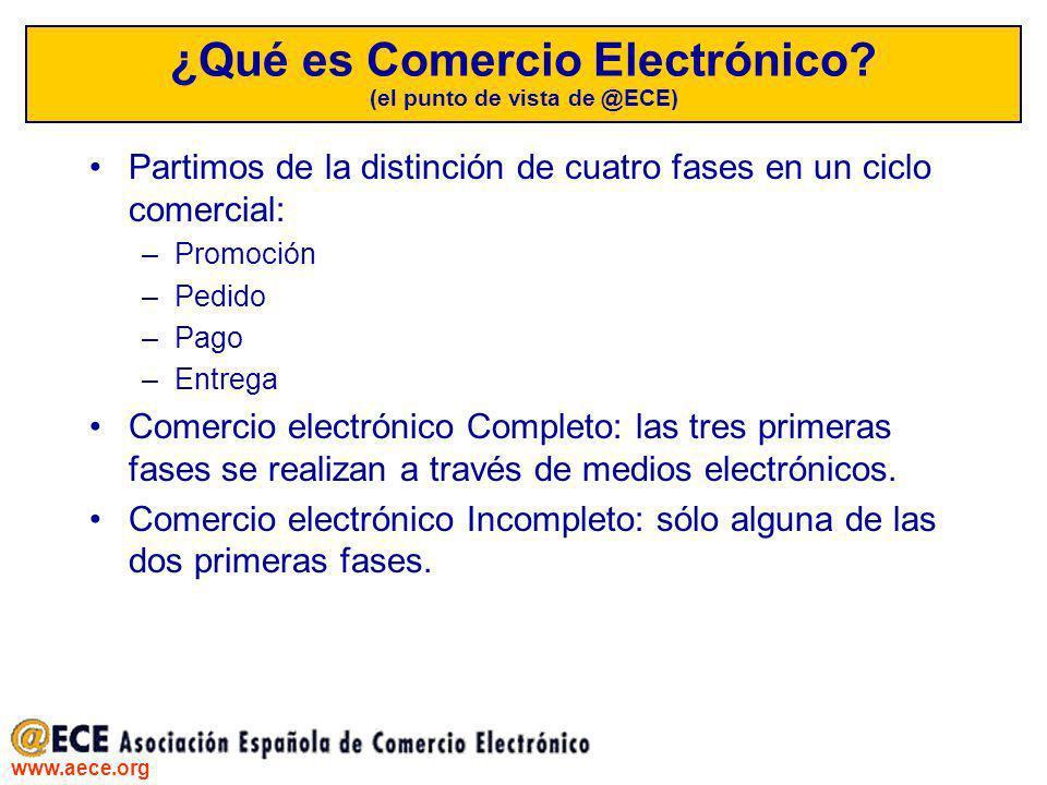 ¿Qué es Comercio Electrónico (el punto de vista de @ECE)