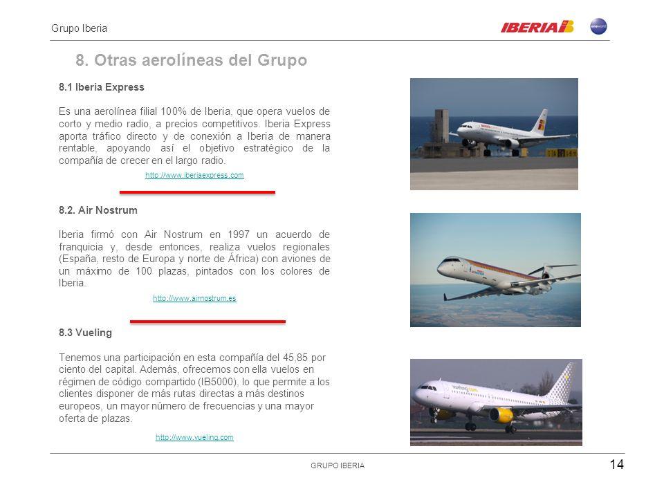 8. Otras aerolíneas del Grupo