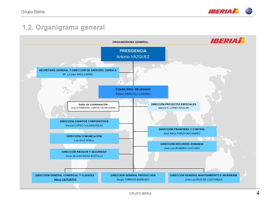 Grupo Iberia 1.2. Organigrama general GRUPO IBERIA