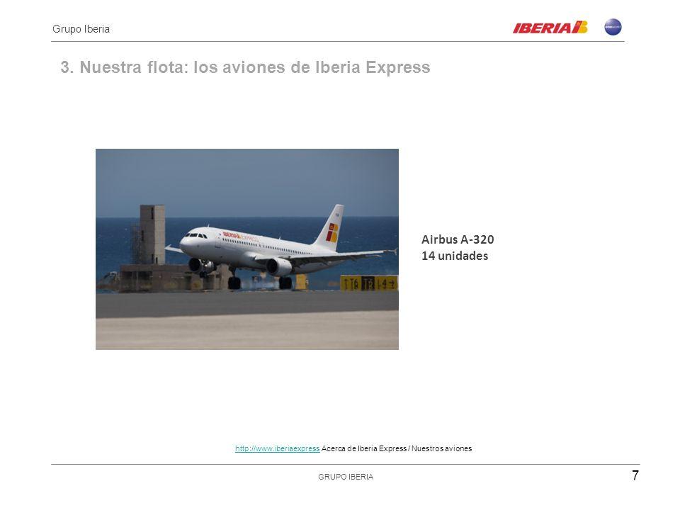 3. Nuestra flota: los aviones de Iberia Express