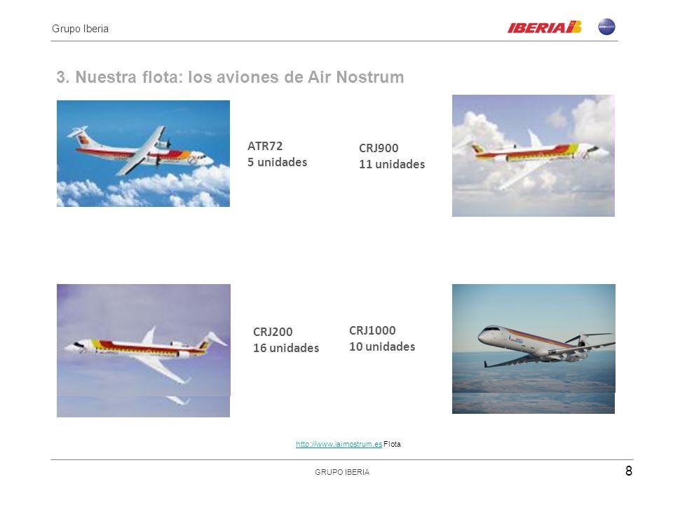 3. Nuestra flota: los aviones de Air Nostrum