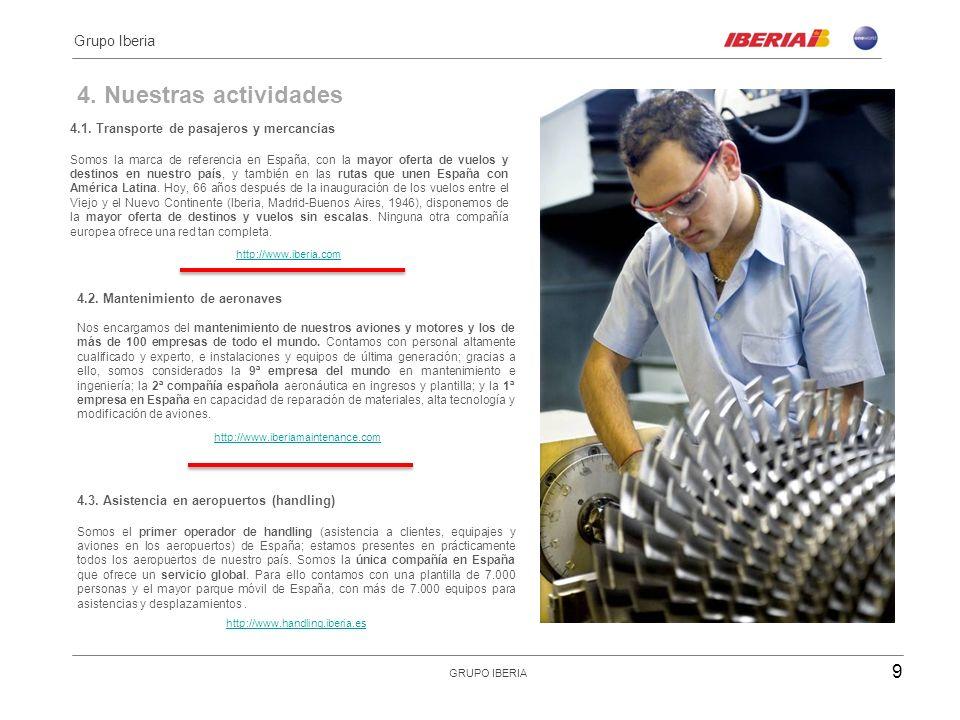4. Nuestras actividades llll Grupo Iberia
