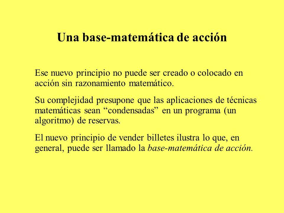 Una base-matemática de acción
