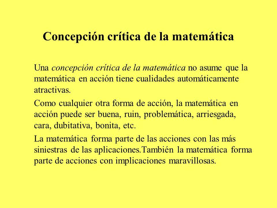 Concepción crítica de la matemática