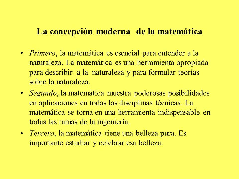 La concepción moderna de la matemática