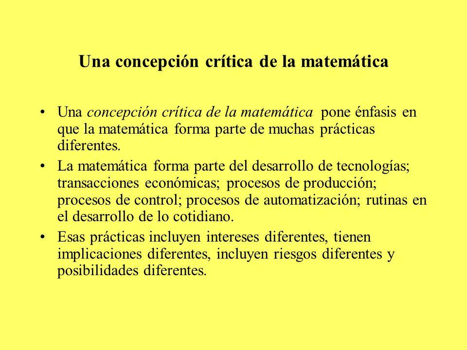 Una concepción crítica de la matemática