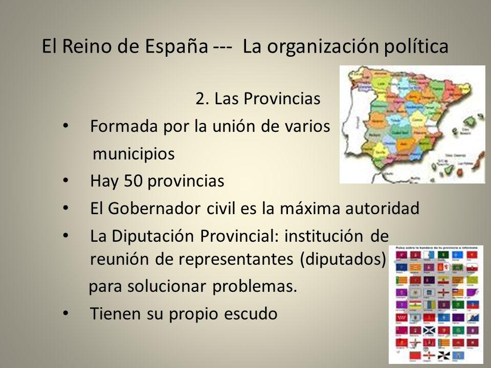 El Reino de España --- La organización política