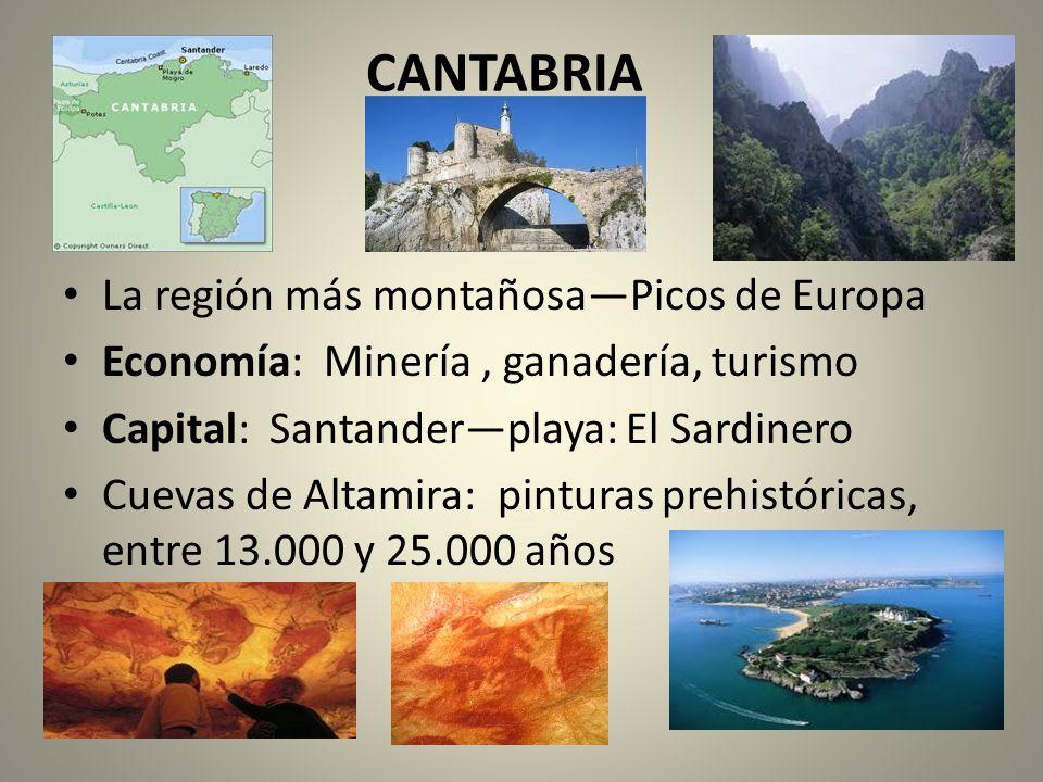 CANTABRIA La región más montañosa—Picos de Europa