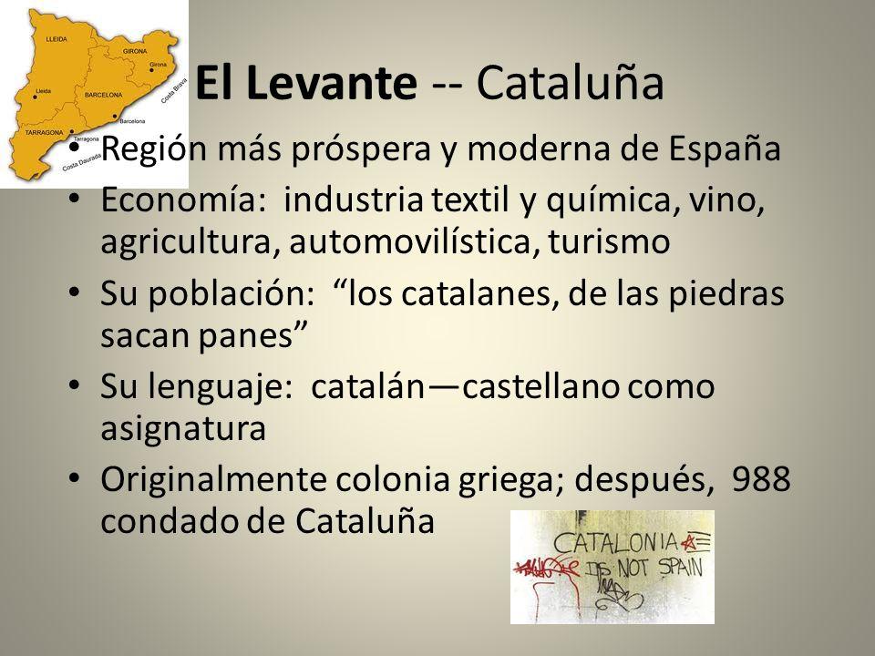 El Levante -- Cataluña Región más próspera y moderna de España