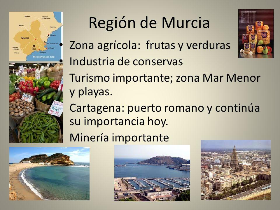 Región de Murcia Zona agrícola: frutas y verduras