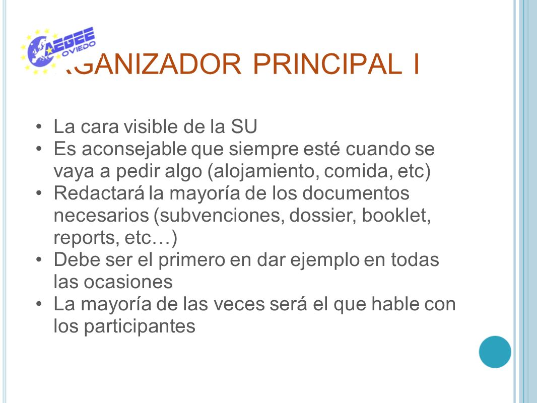 ORGANIZADOR PRINCIPAL I