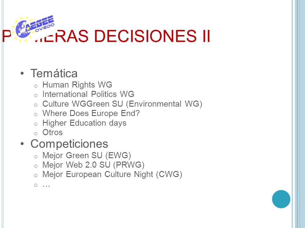 PRIMERAS DECISIONES II