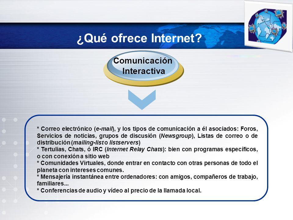 ¿Qué ofrece Internet Comunicación Interactiva