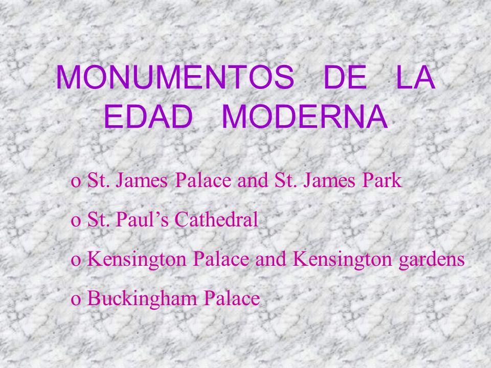 MONUMENTOS DE LA EDAD MODERNA