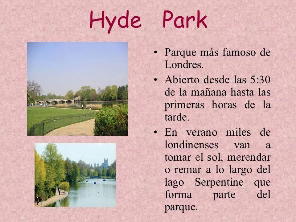 Hyde Park Parque más famoso de Londres.