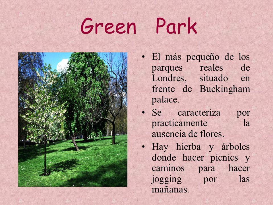 Green Park El más pequeño de los parques reales de Londres, situado en frente de Buckingham palace.