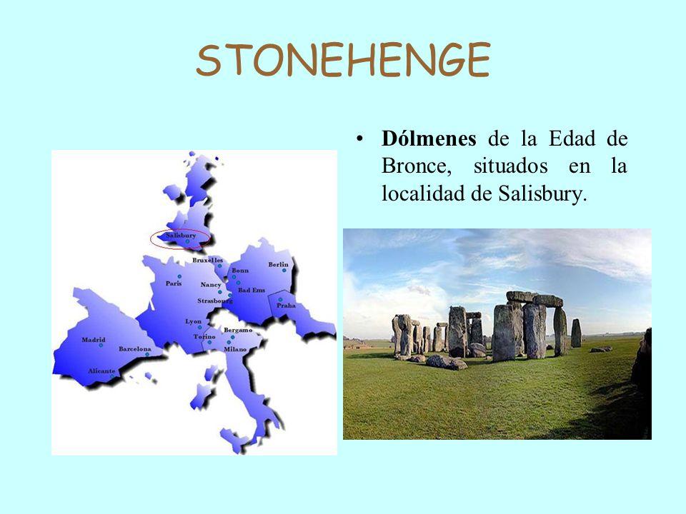 STONEHENGE Dólmenes de la Edad de Bronce, situados en la localidad de Salisbury.