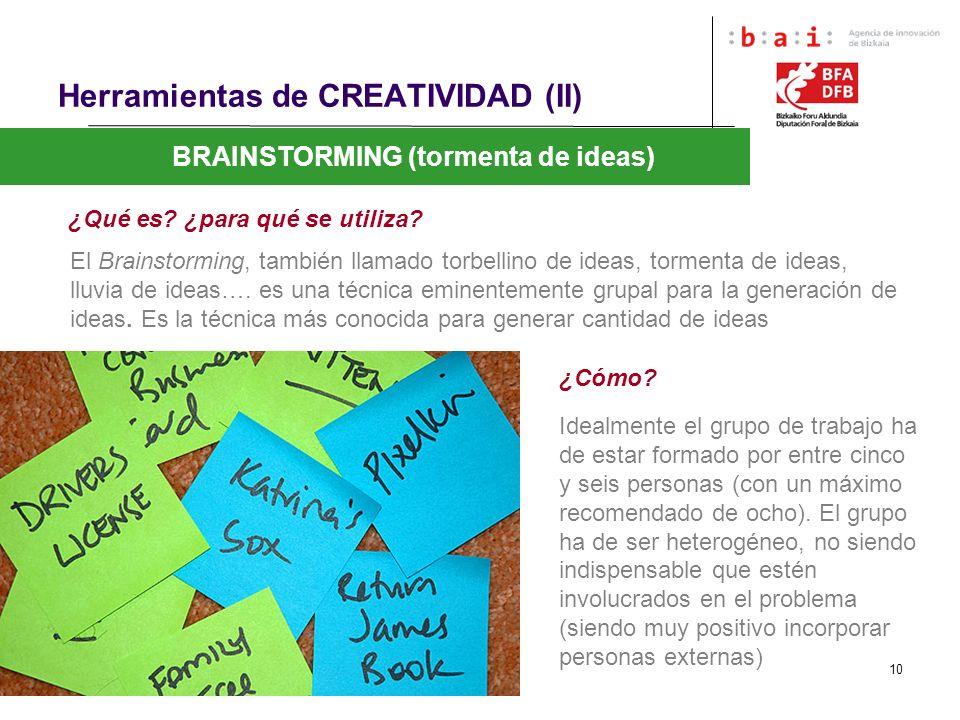 Herramientas de CREATIVIDAD (II)