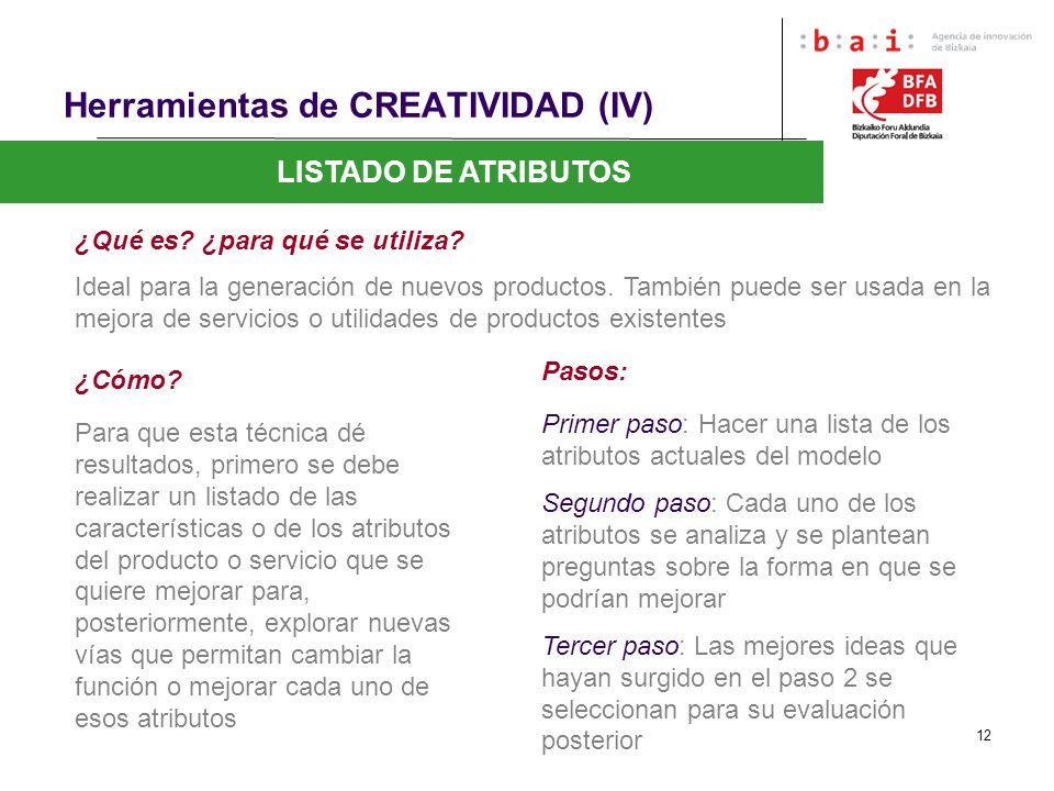 Herramientas de CREATIVIDAD (IV)
