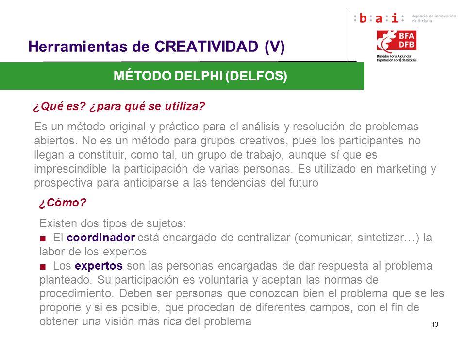 Herramientas de CREATIVIDAD (V)