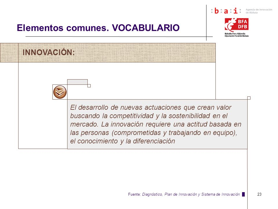 Elementos comunes. VOCABULARIO