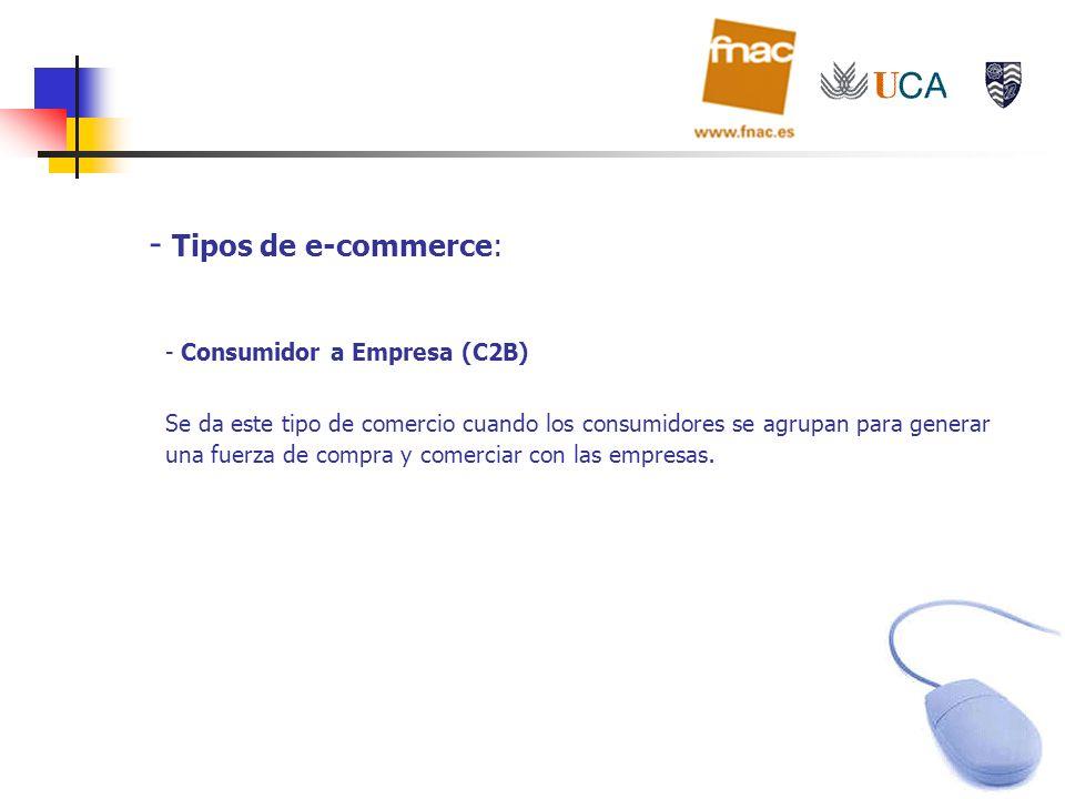 Tipos de e-commerce: Consumidor a Empresa (C2B)