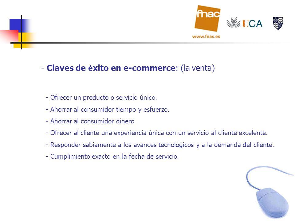 Claves de éxito en e-commerce: (la venta)