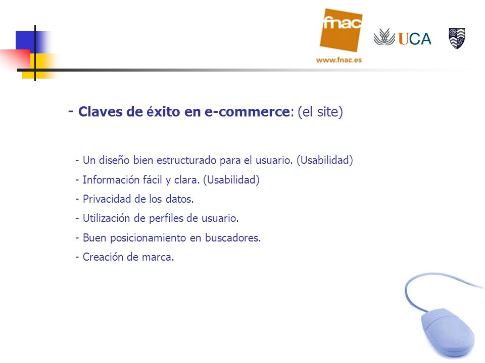 Claves de éxito en e-commerce: (el site)