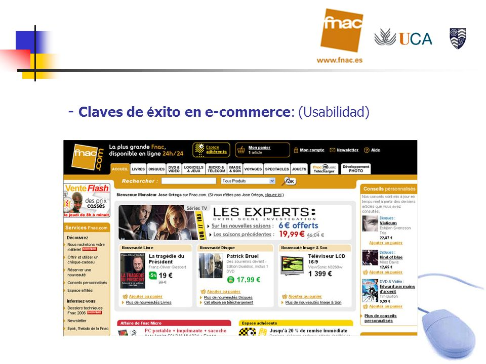 Claves de éxito en e-commerce: (Usabilidad)