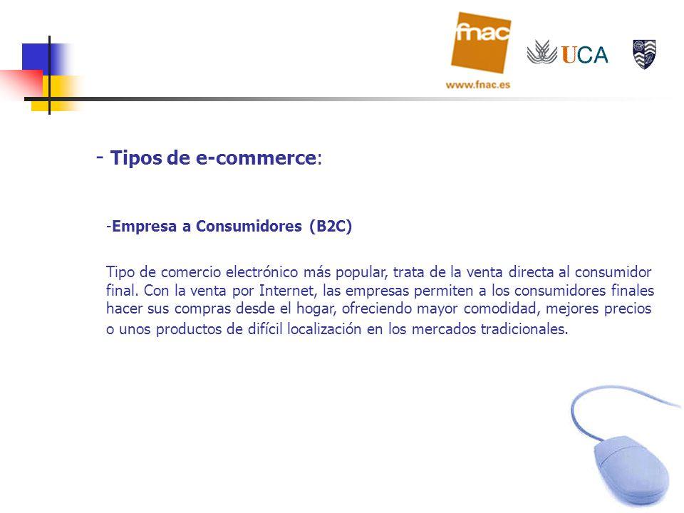 Tipos de e-commerce: Empresa a Consumidores (B2C)