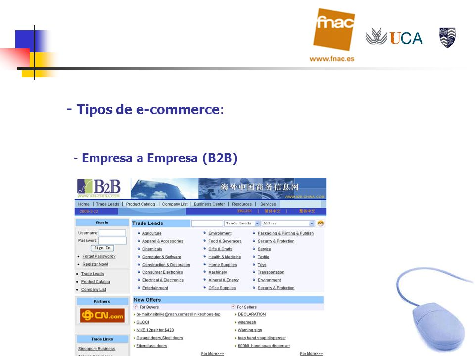 Tipos de e-commerce: Empresa a Empresa (B2B)