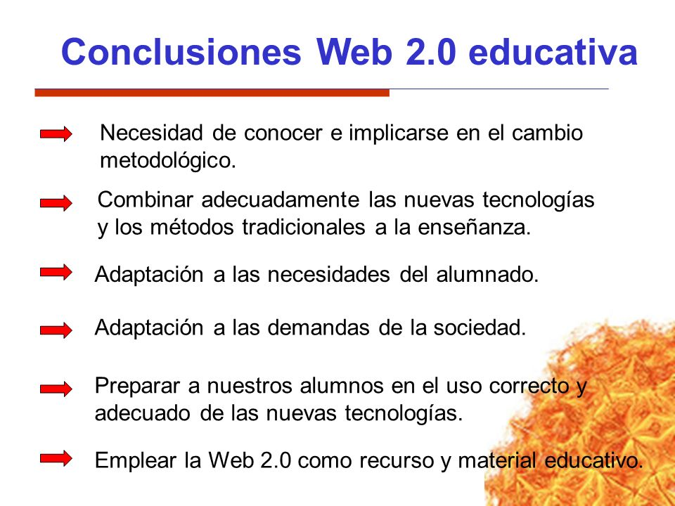 Conclusiones Web 2.0 educativa