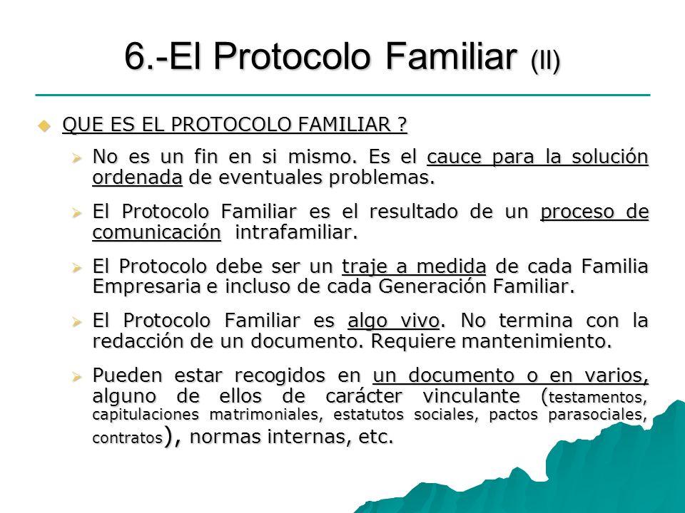 6.-El Protocolo Familiar (II)