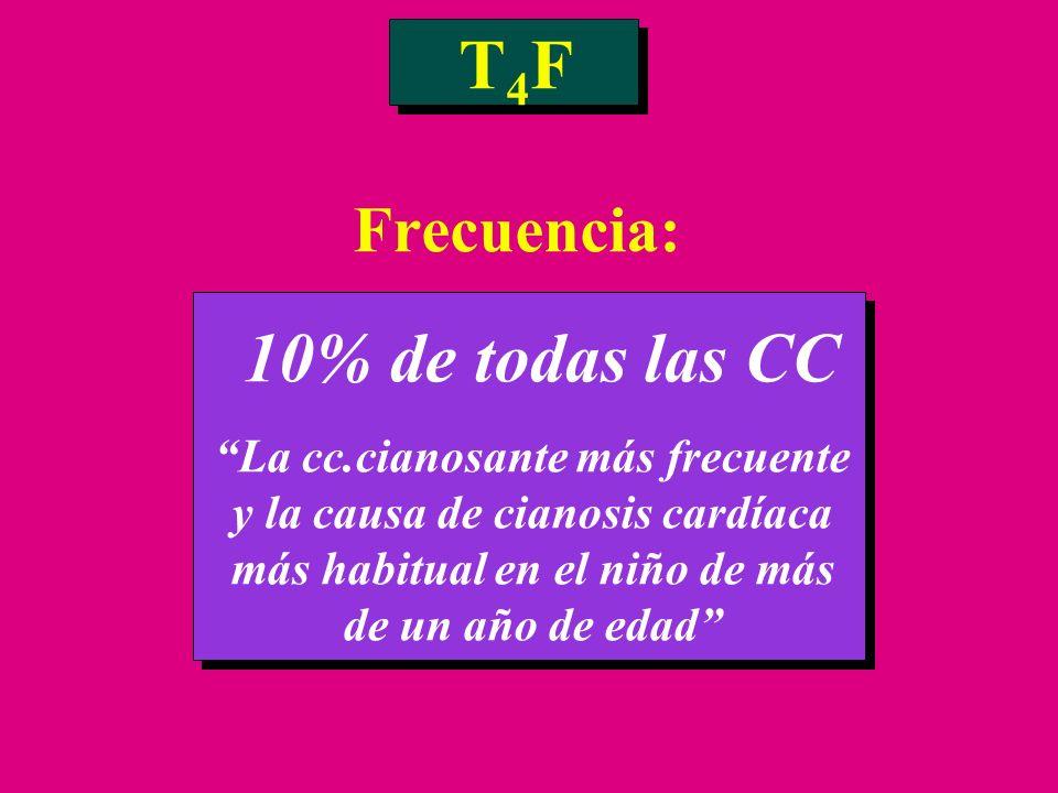 T4F Frecuencia: 10% de todas las CC
