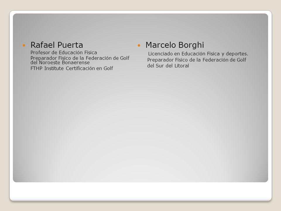 Marcelo Borghi Licenciado en Educación Física y deportes.