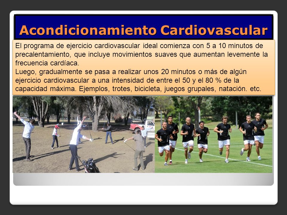 Acondicionamiento Cardiovascular