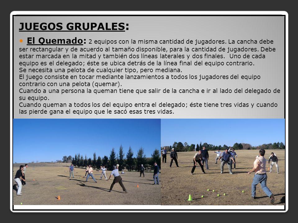 JUEGOS GRUPALES: