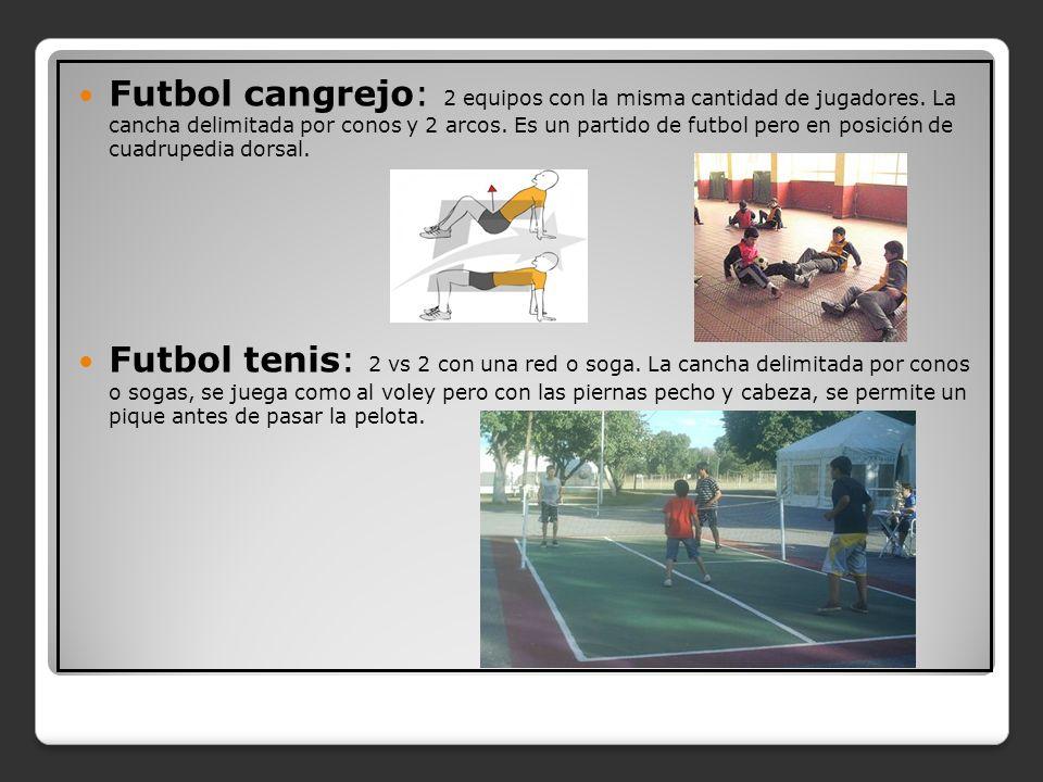 Futbol cangrejo: 2 equipos con la misma cantidad de jugadores